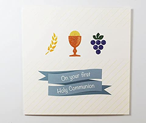 On Your First 1st Holy Communion Greeting Card Religious Prayer For Boy Girl