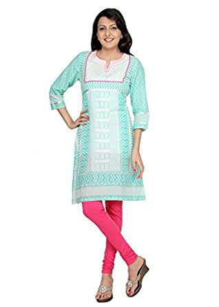 Morpankh Womens Cotton Kurta (305000000487989 _Mint Green _X-Large)