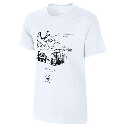 Nike Herren Tri Blend Huarache Sketch T-Shirt X-Large Weiß Schwarz