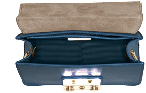 FURLA - Metropolis Mini Crossbody, Borsa a tracolla donna Blue (Blu Ginepro B)