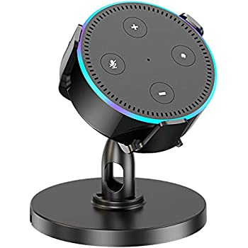 Space-Saving Accessories for Smart Home Speaker Clever Dot Plug without Mess Wires or Screws Exposed Speaker, No Muffled Sound Black Cocoda Wall Mount Holder for Dot 3rd Generation,