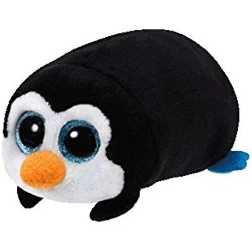 peluches TY Beanie Baby–TY42141Teeny Tys–Pocket, 1 pingüino de peluche