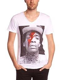 Eleven Paris KALIFAMMEN - Camiseta, con manga larga, con cuello con botones para hombre