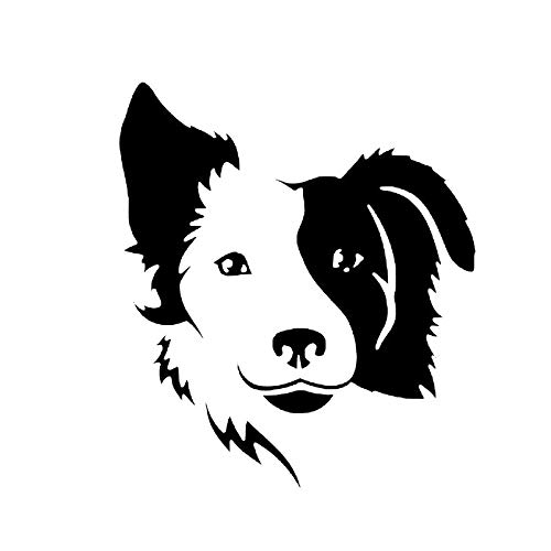 Cvxgdsfg Auto Aufkleber Border Collie Tier Cartoon Kratzer Aufkleber (Color : Black)
