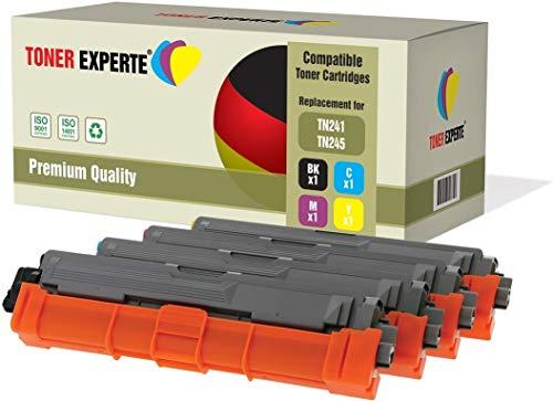 Kit 4 TONER EXPERTE TN241 TN245 Toner compatibili per Brother DCP-9015CDW DCP-9020CDW MFC-9140CDN MFC-9330CDW MFC-9340CDW HL-3140CW HL-3142CW HL-3150CDW HL-3152CDW HL-3170CDW HL-3172CDW MFC-9130CW