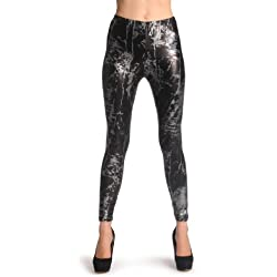 Silver Snake Skin - Leggings - Plateado Leggings Talla unica (34-42)