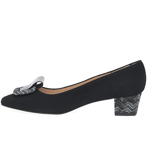 La Cour HB Firence Womens Shoes Black Suede/Print