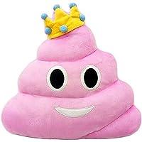 Comparador de precios cojoy Emoji caca almohada Princess cojín de emoticono corazón Ojos Poo forma de almohada muñeca de peluche (rosa - precios baratos