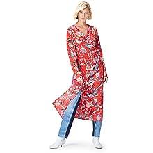 Amazon Brand - find. Women's Midi Wrap Dress, Red (Red), 8, Label:XS