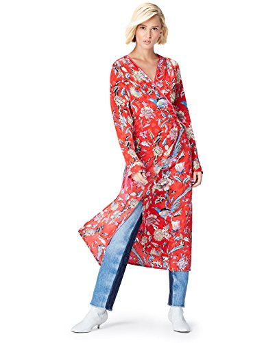 Find. Mdr 40444, vestidos mujer Mujer, Rojo Red Mehrfarbig