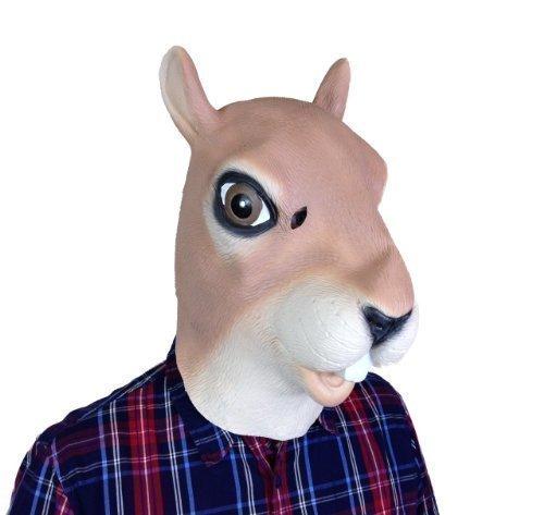 Kostüm Eichhörnchen Zubehör - Gesichtsmaske - Rotes Eichhörnchen Latex Maske - Kostüm Zubehör