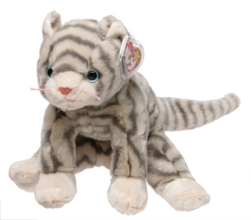 5379a5e1954 TY Silver the Grey Tabby Beanie Buddy 12 by TY~CLASSIC   BUDDY CATS