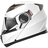 YEMA Casco Moto Modular ECE Homologado YM-925 Casco de Moto Integral Scooter para Mujer