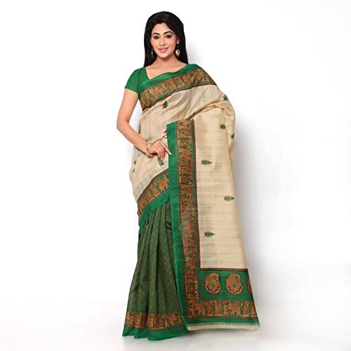 Kanchan Women Wedding Cotton Silk Bhagalpuri Trend Saree For Ladies & Girls...