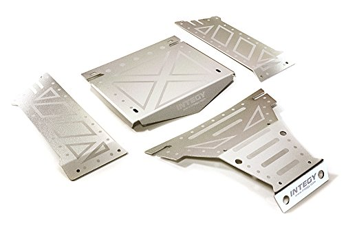 Integy RC Model Hop-ups C27661SILVER Aluminum Alloy Body Panel Kit for Axial 1/10 Yeti Rock Racer Buggy - Rc-kit Yeti