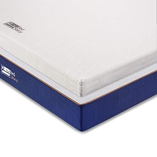BedStory 7 zonen Kaltschaum Matratzentopper 140 x 200, 5 cm orthopädische Matratzenauflage für unbequemem Betten/Boxspringbett unbequemes Schlafsofa