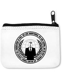 Anonymous Logo Slogan Monedero de la Cremallera de la Moneda