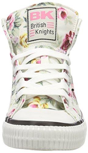 Sneaker Inglese Da Donna Cavaliere Dee Britannico (fiore Bianco / Rosa)