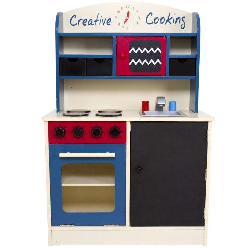 Realistische Kinderküche ( 60 x 30 x 90 cm) aus Holz inkl. vielen Zubehör | Spielküche | Holzküche | Küchenspielzeug -
