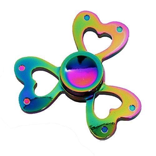 fidget-spinner-finger-hand-spin-bearing-ultimate-edc-stress-focus-gadget-toy-rainbow-metallic-heart