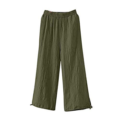 MCYs ❤ Plus Size Damen Pure Colour Tightness Hose mit weitem Bein Hose mit Kordelzug
