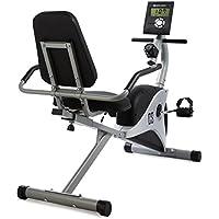 CAPITAL SPORTS Swizor X Bicicleta ergométrica (Volante 4 kg masa móvil, pulsómetro, 8 niveles resistencia, monitor entrenamiento calorías, cómodo respaldo, ergómetro gris)
