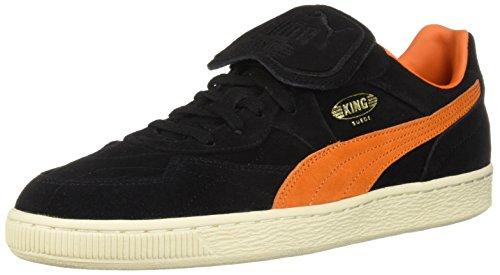 Puma PUMA Chaussures King Suede Legends pour Hommes, 45 EU, Puma BlackVibrant OrangeWhisper White