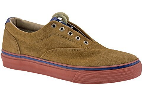 Sperry Top-Sider Striper T Suede, Chaussures bateau homme Marron