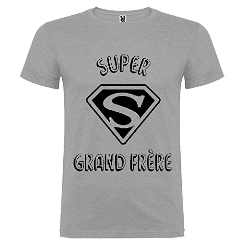 Tip Top Tshirt T-shirt Homme Super Grand frère - Gris