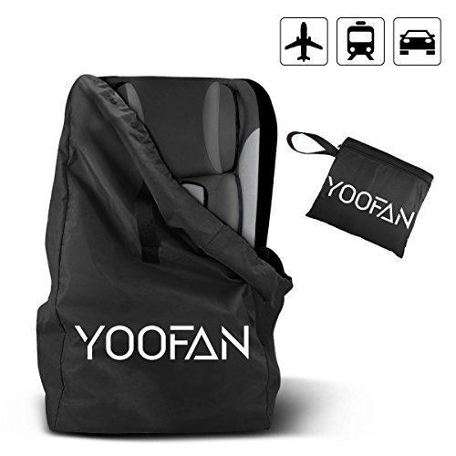 YOOFAN Gate Check Reisetasche mit Rucksack Schulterriemen für Kinderwagen, Autokindersitze, Rollstühle, Wasserabweisend - gut für Flugzeug und Aufbewahrung (Schwarz)