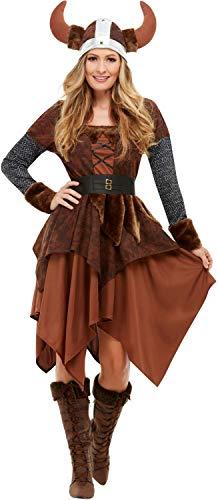Krieger Drachen Kostüm - Fancy Me Damen Wikinger Königin Krieger Historisches Buch TV Film Film Halloween Karneval Kostüm Outfit