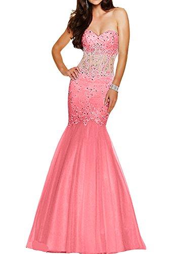 ivyd ressing Donna Alta Qualità sera vestiti Mermaid Abito di pizzo tulle Prom Party vestiti Anguria