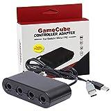 Gamecube Controller Adapter Switch Wii U PC 4 Ports 2018 Version Turbo Mode kein Treiber notwendig bietet Super Smash Bros Spielerfahrung