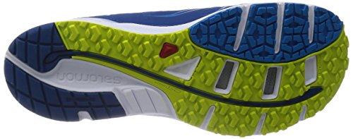 Salomon Sense Manatra 3, Chaussures de Trail Hommes Bleu - Blau (Gentiane/Methyl Blue/Gecko Green)