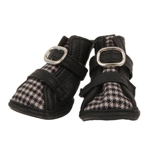 Puppia PAMD-SH068 Houndstooth Schuhe, XXL, schwarz