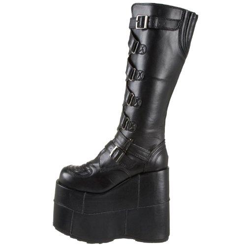 Demonia Goth Punk Gogo Cyber Stiefel Stack-308 mattschw.Gr.42 (Heel Stack)