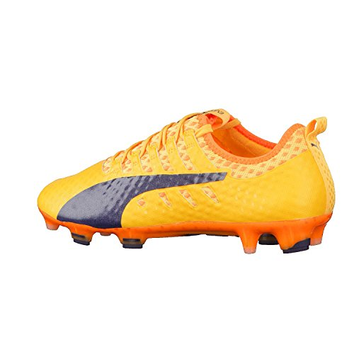 Puma Evopower Vigor 1 Fg, Chaussures de Football Homme Orange (Ultra Yellow-Peacoat-Orange Clown Fish 07)