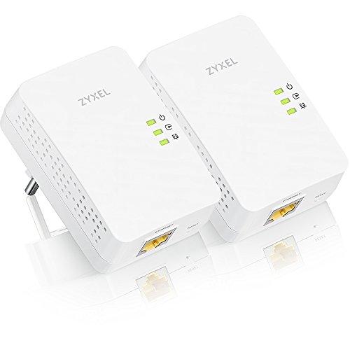 Zyxel 1300 Mbit/s MIMO Powerline Gigabit Ethernet Adapter 2er Pack [PLA5405v2]