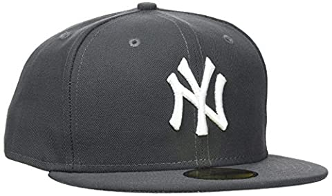 New Era Erwachsene Baseball Cap Mütze MLB Basic NY Yankees 59 Fifty Fitted, Graphite/White, 7 1/4, 10010761