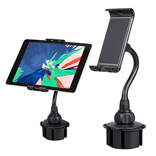 EEEKit Autohalterung für Telefontablets, 2-in-1-Halterung für 360 ° verstellbare Schwanenhalshalterung für die meisten Smartphones und 5.0-7.7 Inch -Tablets
