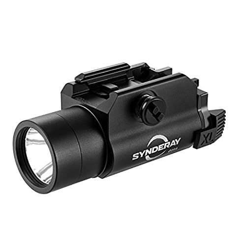 SyndeRay G09A Tactical 230 Lumen LED Flashlight for Compact Pistols fits Beretta PX4 M9A1 Glock 17 18C 19 23 25 SR9 XD Taurus 24/7 SIG P250 S&W SW99