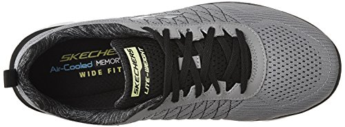 Skechers Flex Advantage 2.0-The Happs, Scarpe Running Uomo Grigio (Light Grey/black)
