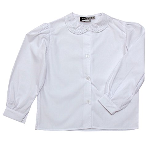 97231f644c Girls School Uniform White Long Sleeve Lace Collar Blouse Shirt Chest 24 -  36 (Chest