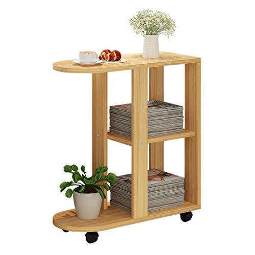 LYN Beistelltische, Kaffee, Imbiss, Ablagetisch mit Rädern für Zuhause, Wohnzimmer, Büro