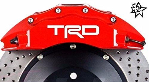 TRD 4 x Bremsenaufkleber Bremsen Aufkleber Bremssattel Hitzebeständig DECALS STICKERS von myrockshirt ® estrellina Glücksstern - Toyota Trd Decals