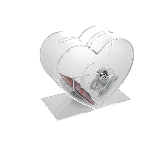 Corazón Transparente Acrílico Sugerencia caja donación