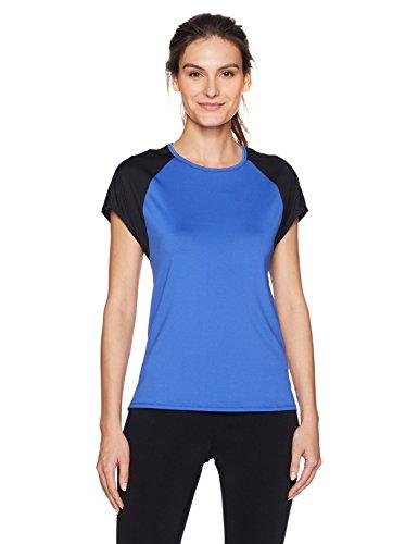Short Sleeve Mesh Back Tee (SHAPE activewear Damen Playa Short Sleeve Tee - Blau - Klein)