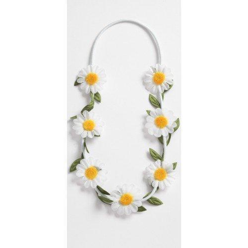 Daisy ghirlanda floreale bianca capelli bande AUX fascia elastico Festival matrimonio