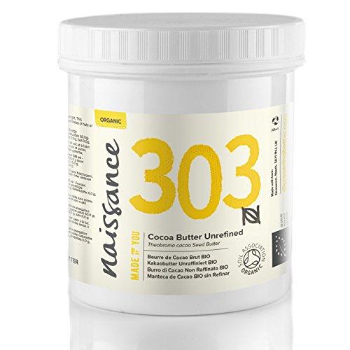 Naissance Manteca de Cacao BIO Sin Refinar - Ingrediente Natural 100% Puro - 250g