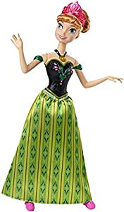 Barbie Disney Frozen Singing Anna Doll, Multi Color